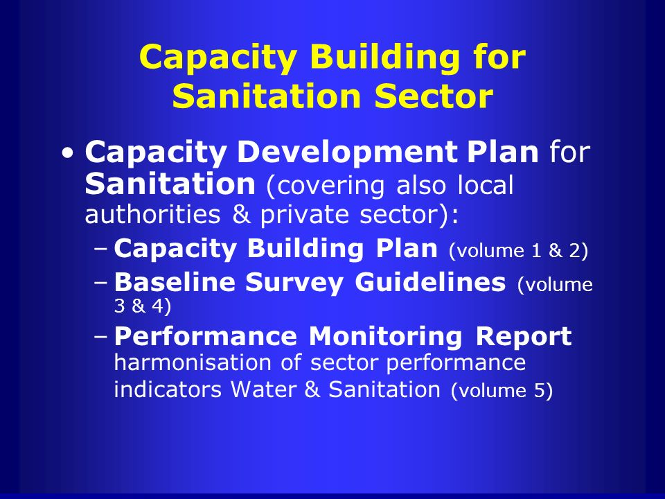 Capacity Building for Sanitation Sector