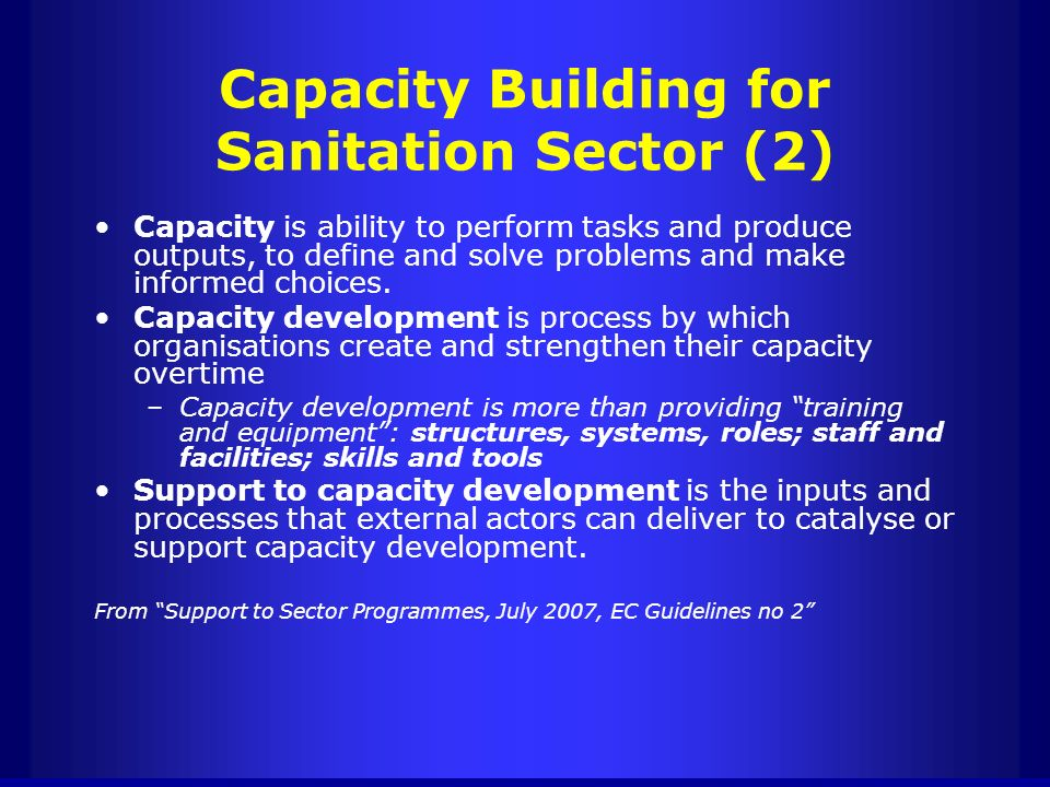 Capacity Building for Sanitation Sector (2)