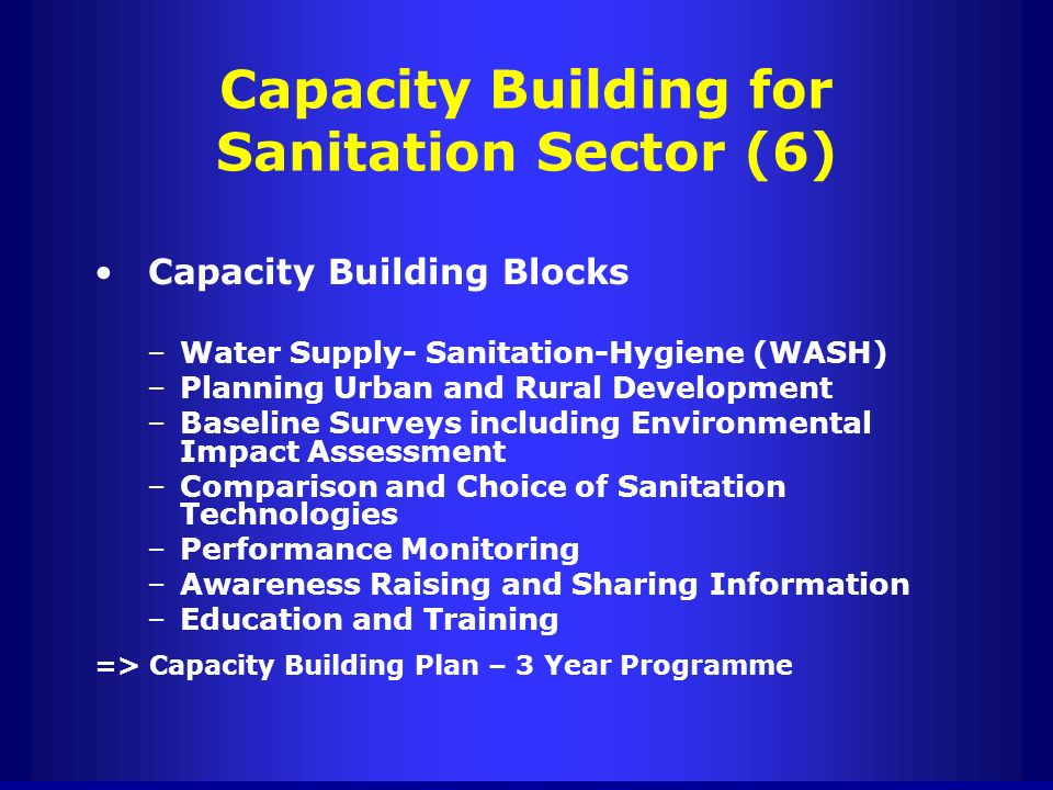 Capacity Building for Sanitation Sector (6)