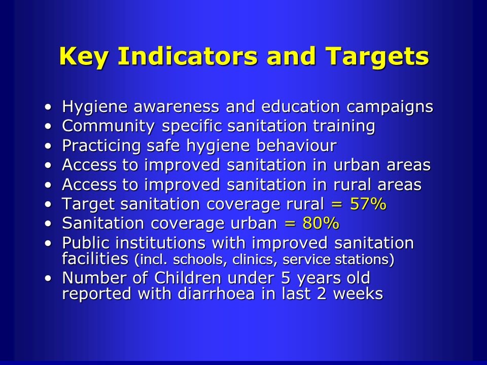 Key Indicators and Targets