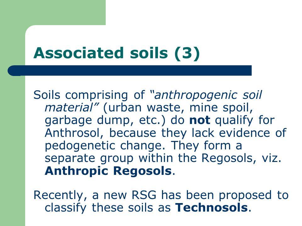 Associated soils (3)