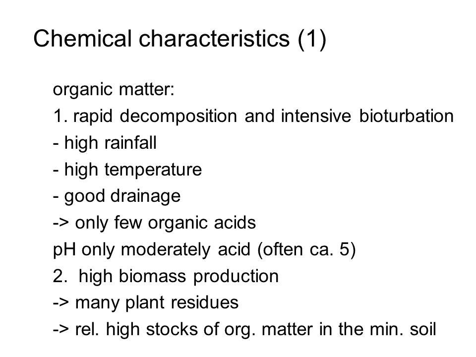 Chemical characteristics (1)