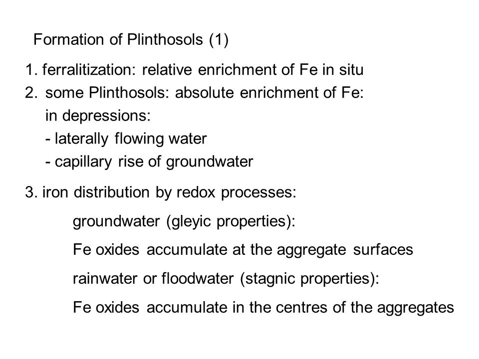 Formation of Plinthosols (1)