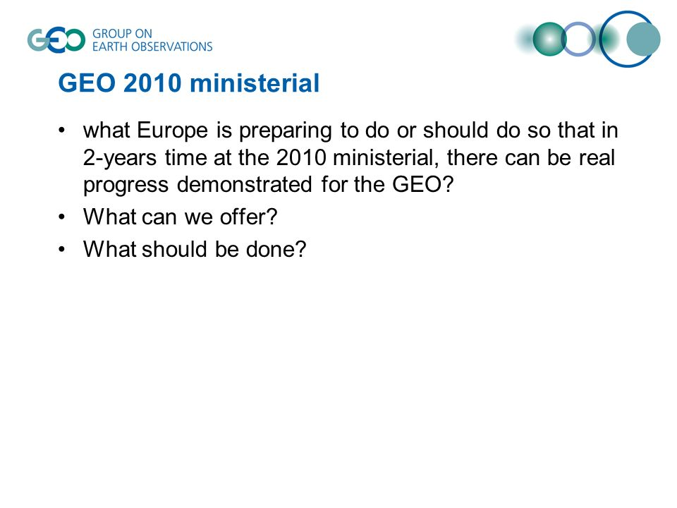 GEO 2010 ministerial