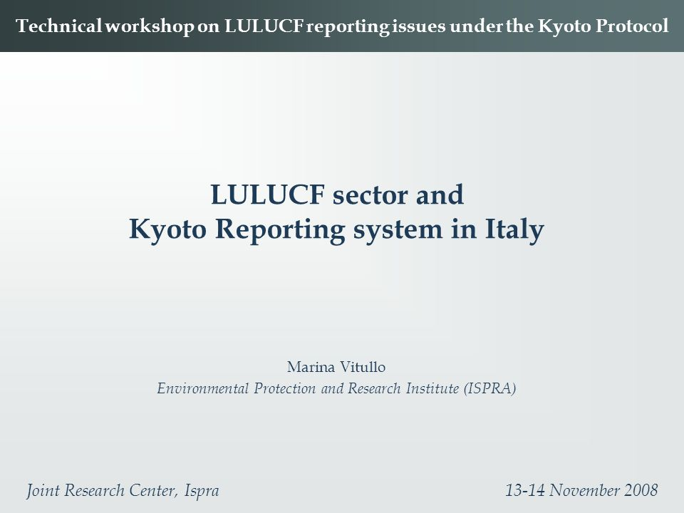 LULUCF sector and Kyoto Reporting system in Italy