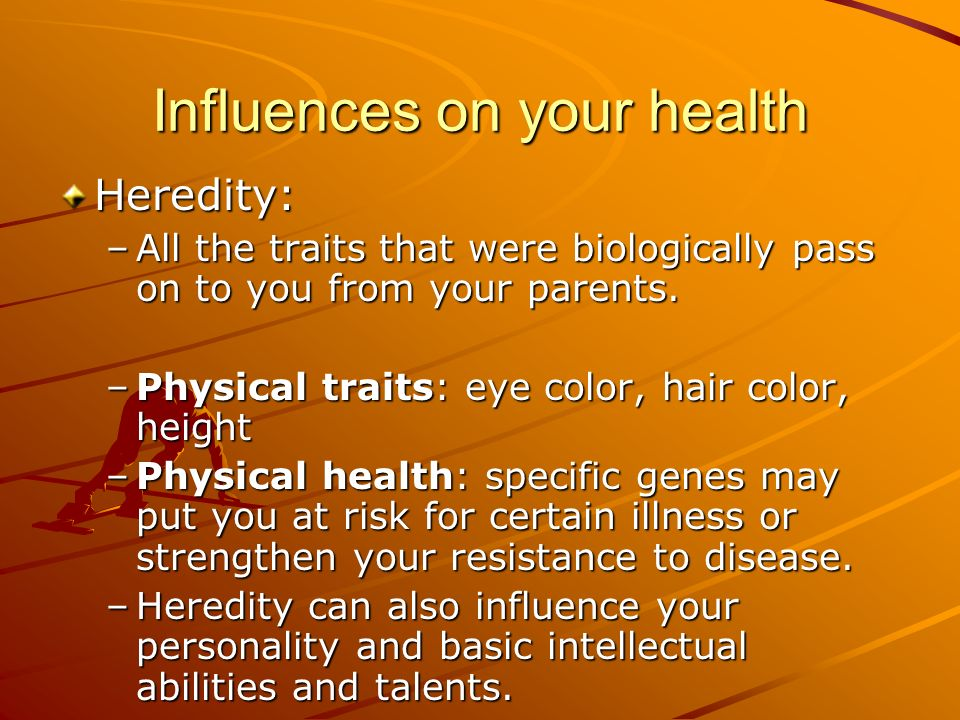does personality influence our health Home » library » personality » stress and personality  our genetic makeup, which influences health and behavior to some degree, it is human nature to feel stressed when we aren't sure.