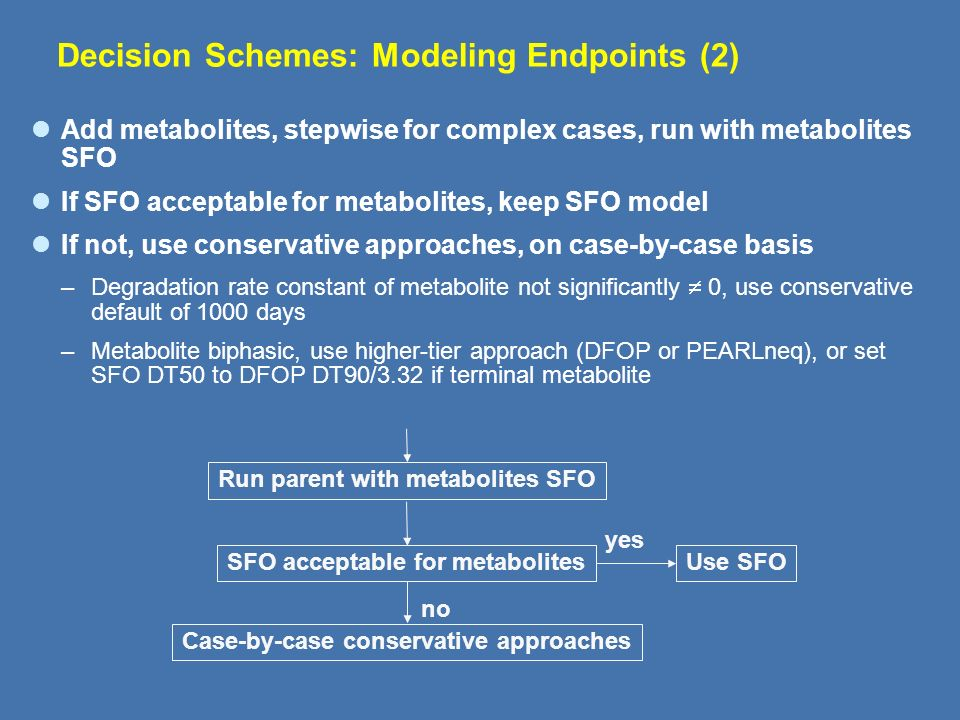 Decision Schemes: Modeling Endpoints (2)