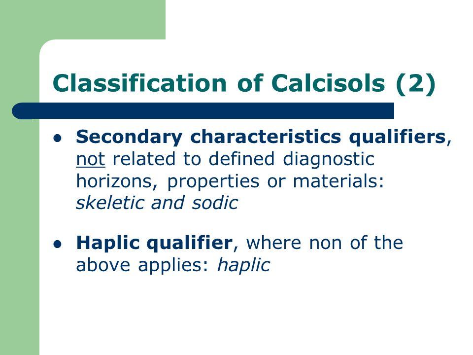 Classification of Calcisols (2)