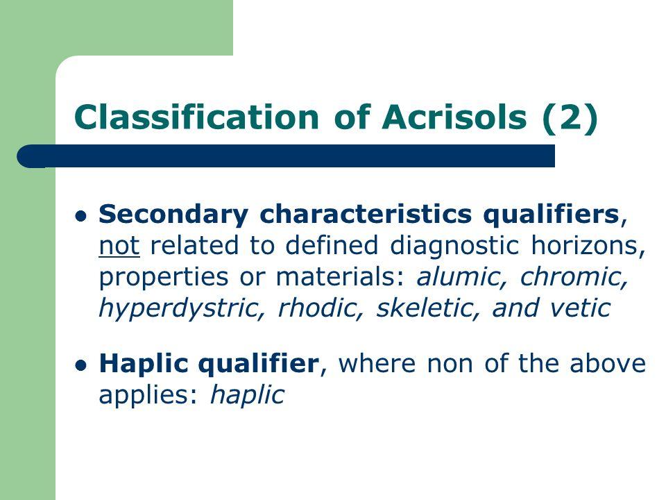 Classification of Acrisols (2)