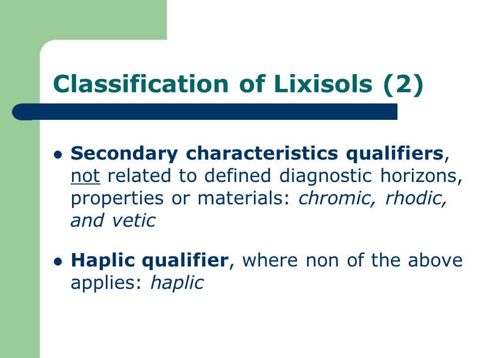Classification of Lixisols (2)