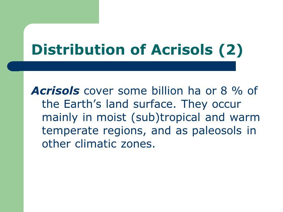 Distribution of Acrisols (2)