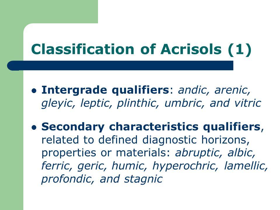 Classification of Acrisols (1)