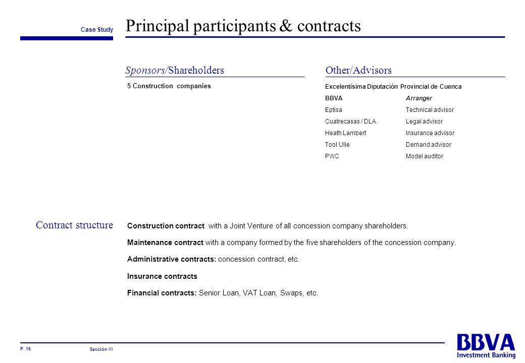 Principal participants & contracts