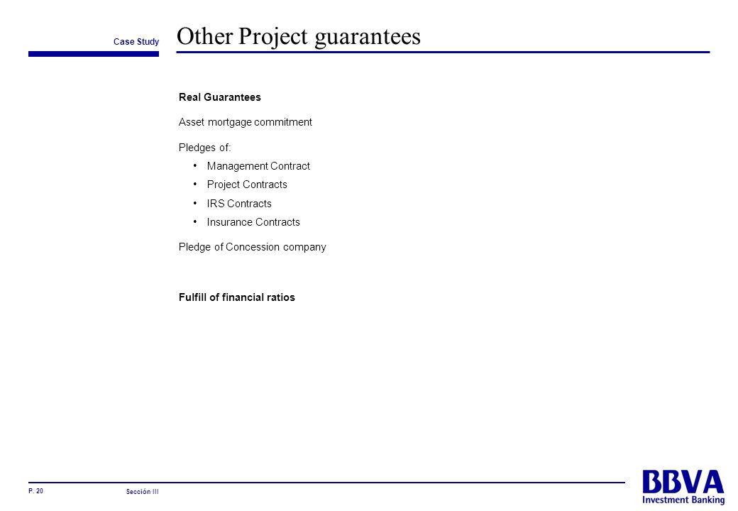 Other Project guarantees