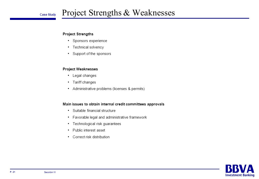 Project Strengths & Weaknesses