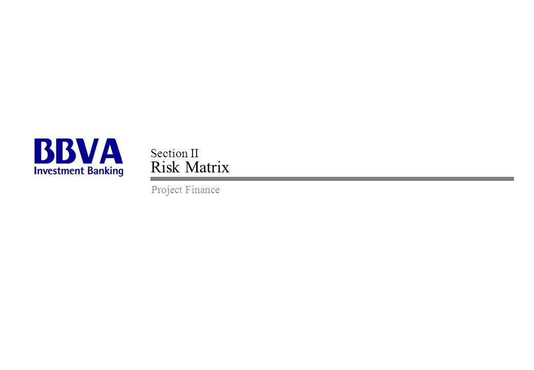 Section II Risk Matrix