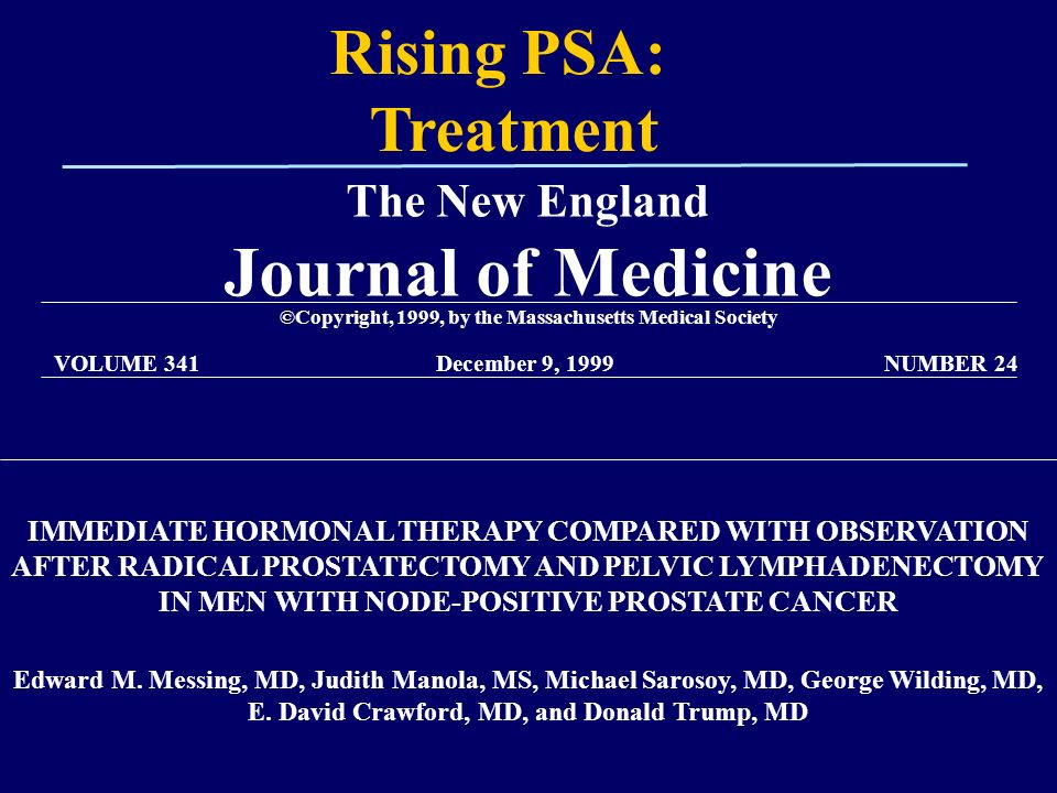rising psa after radical prostatectomy