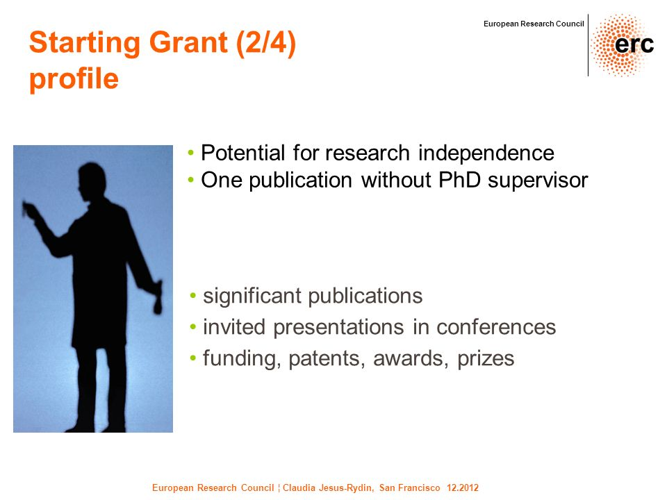 European Research Council ¦ Claudia Jesus-Rydin, San Francisco 12.2012