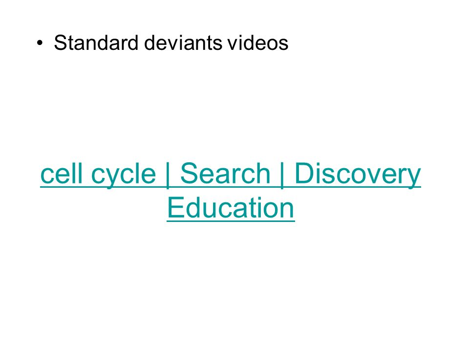 cell cycle | Search | Discovery Education
