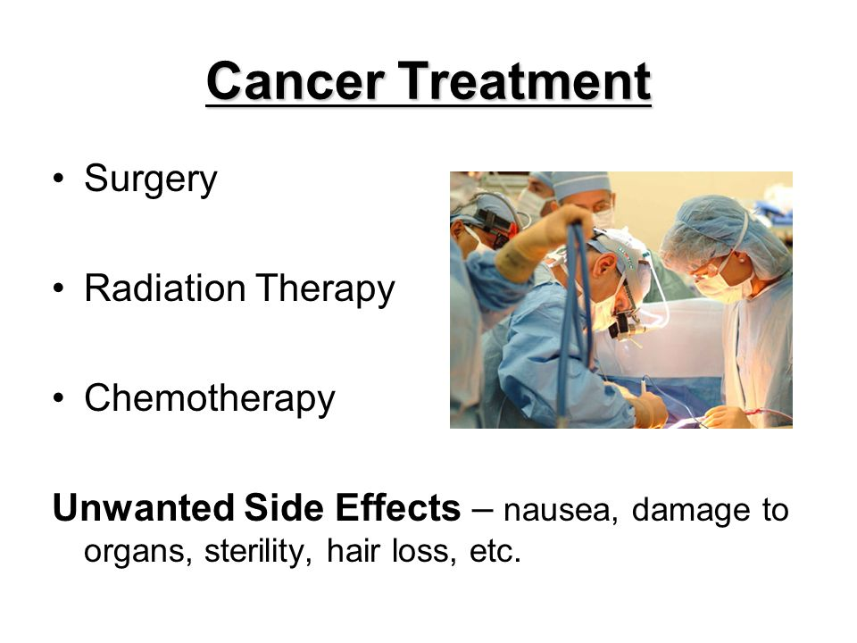 Cancer Treatment Surgery Radiation Therapy Chemotherapy