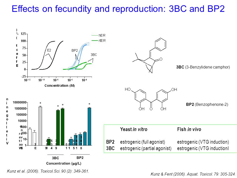 Effects on fecundity and reproduction: 3BC and BP2