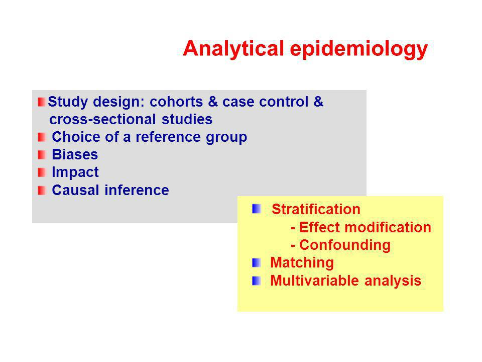 Analytical epidemiology