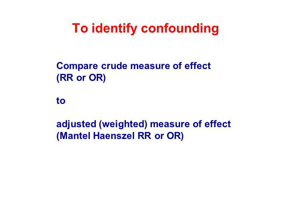 To identify confounding