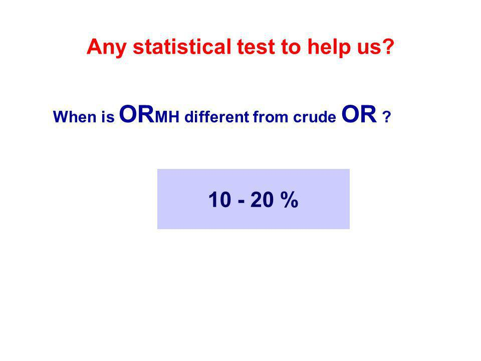 Any statistical test to help us