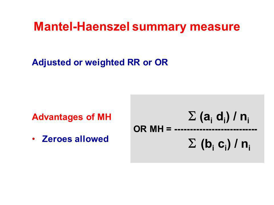 Mantel-Haenszel summary measure