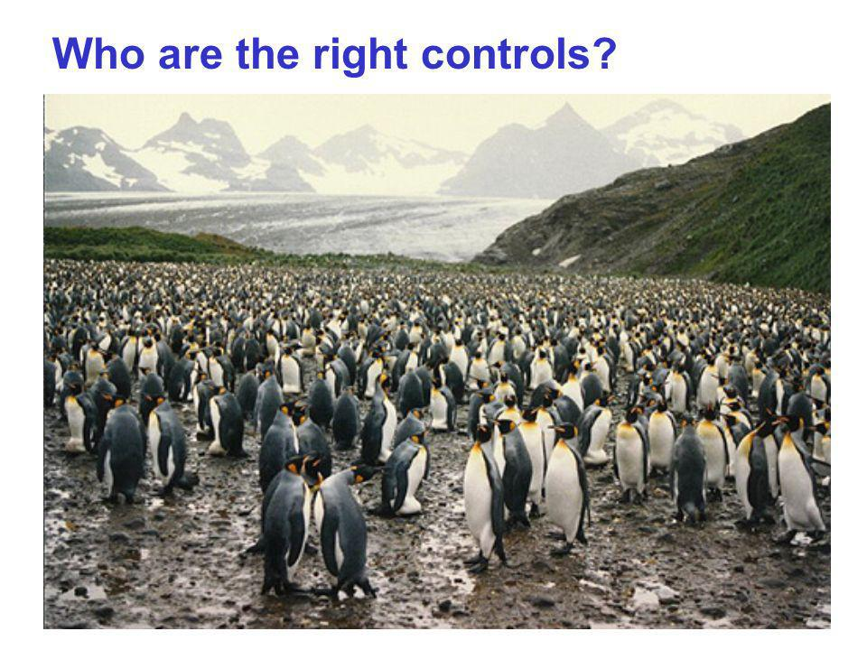 Who are the right controls