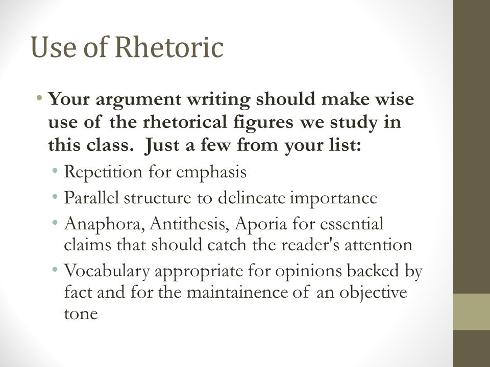 contemporary use of rhetoric essay The rhetorical triangle helps you turn your thoughts and ideas into a credible and persuasive message learn how to use it here the term rhetoric in modern language has been used to refer to arguments that are designed to obscure the truth.