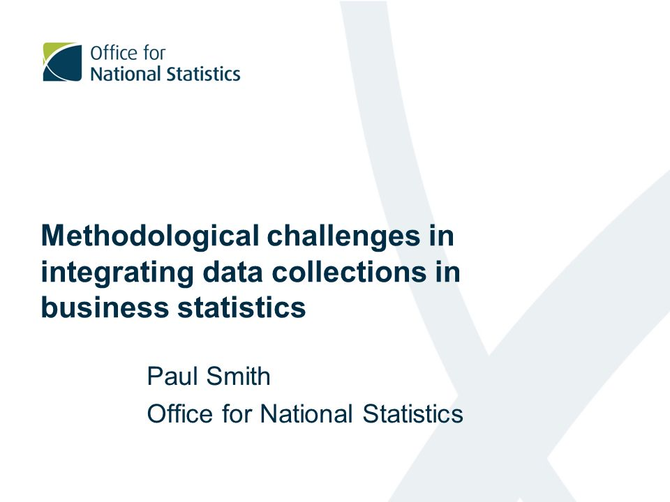 Paul Smith Office for National Statistics