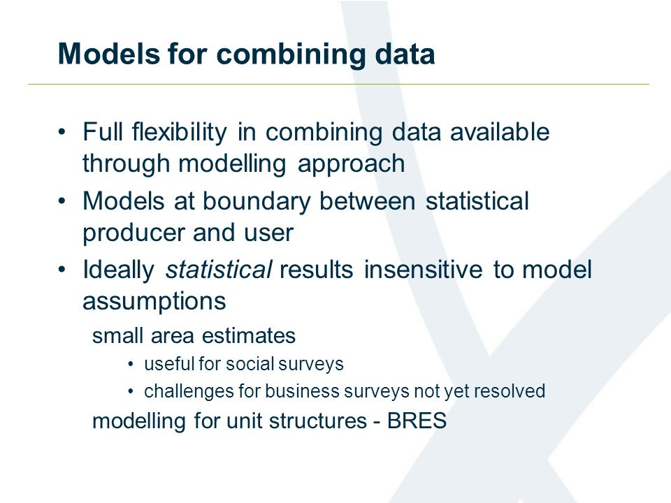Models for combining data