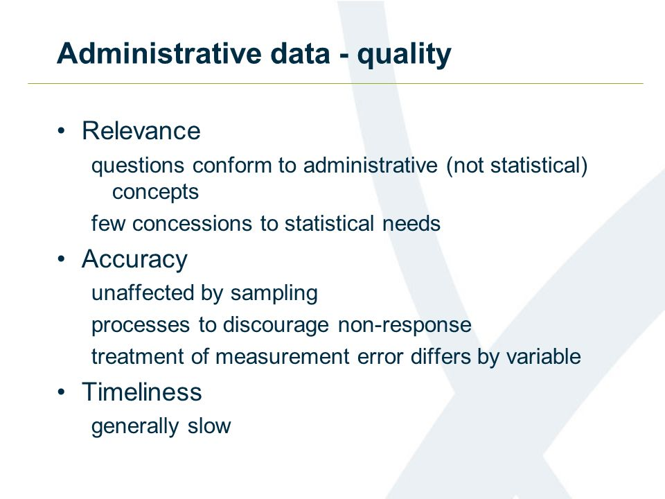 Administrative data - quality