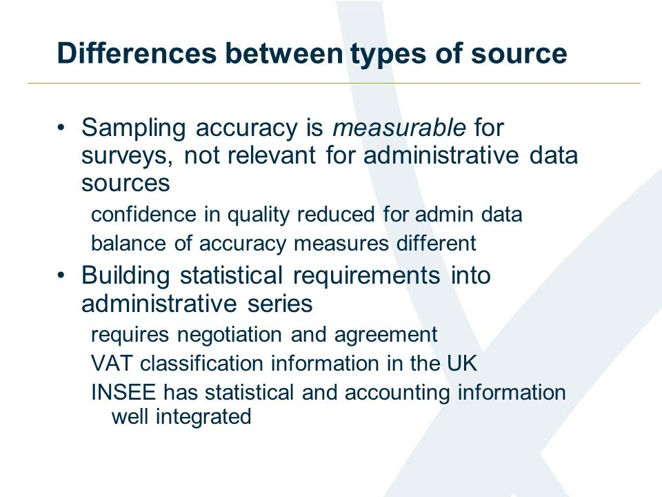 Differences between types of source