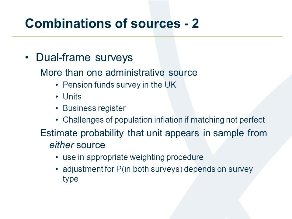 Combinations of sources - 2
