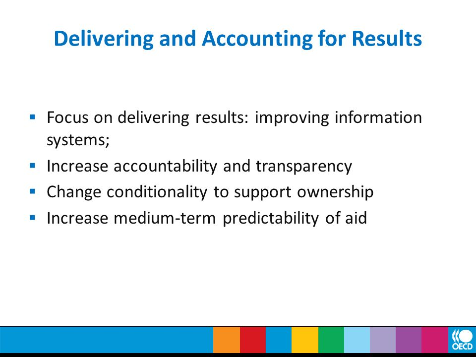 Delivering and Accounting for Results