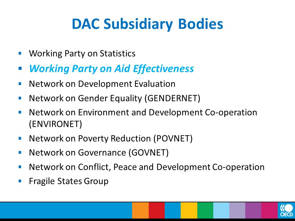 DAC Subsidiary Bodies Working Party on Aid Effectiveness