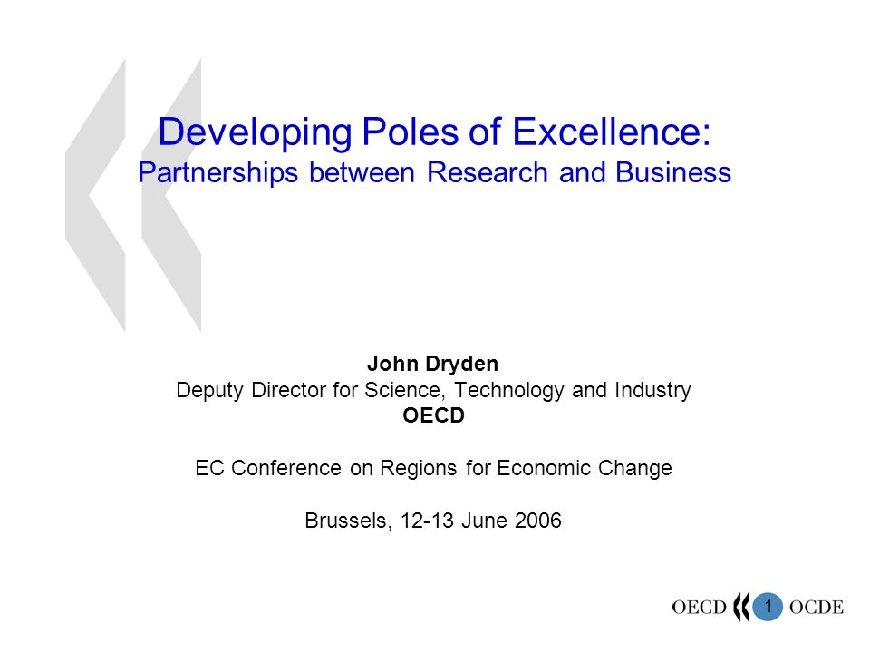 Developing Poles of Excellence: Partnerships between Research and Business