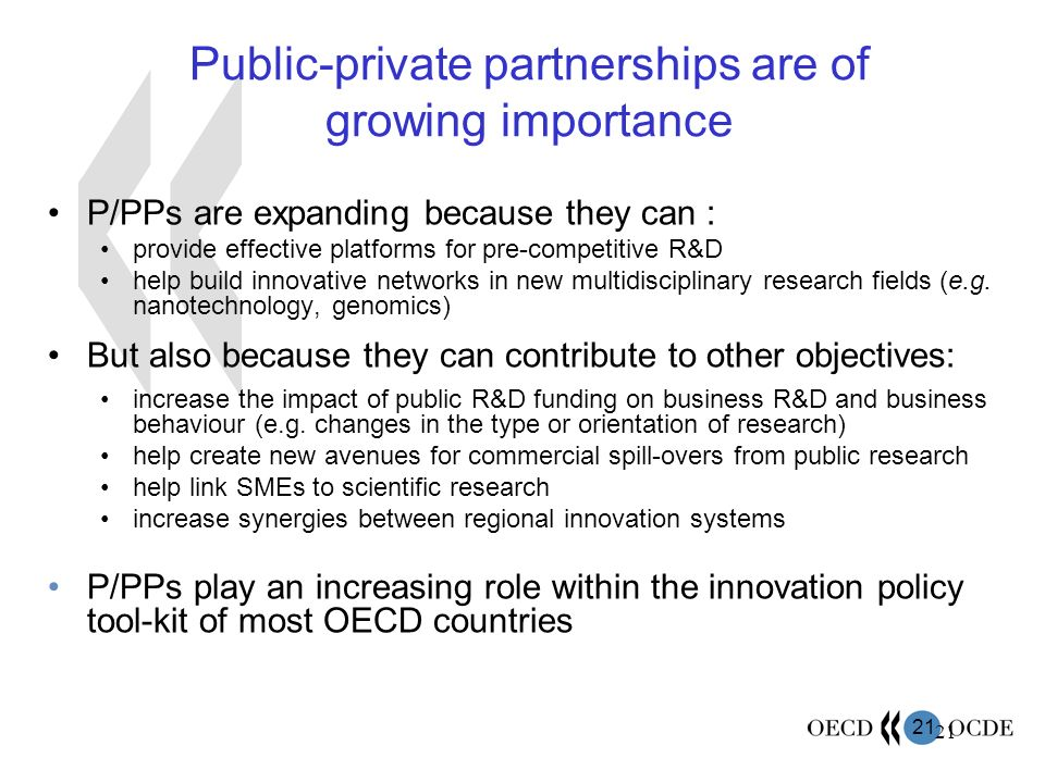 Public-private partnerships are of