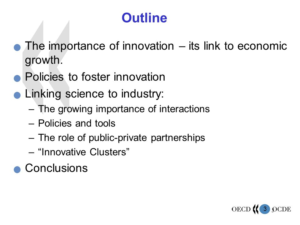 Outline The importance of innovation – its link to economic growth.