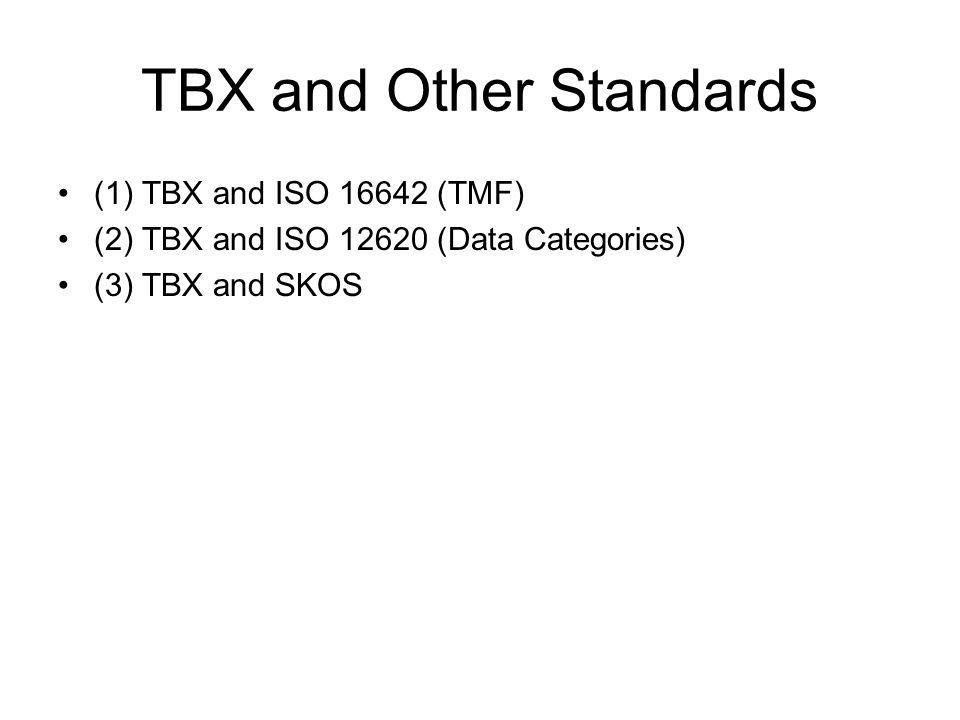 TBX and Other Standards