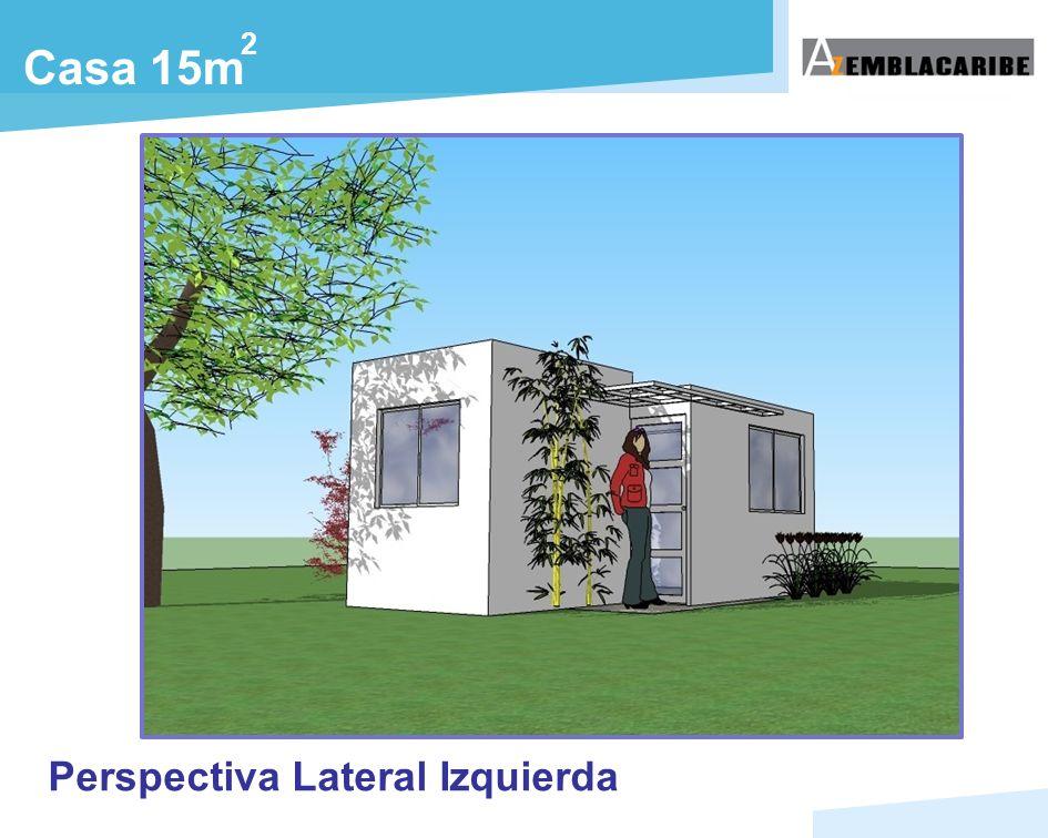2 Casa 15m Perspectiva Lateral Izquierda