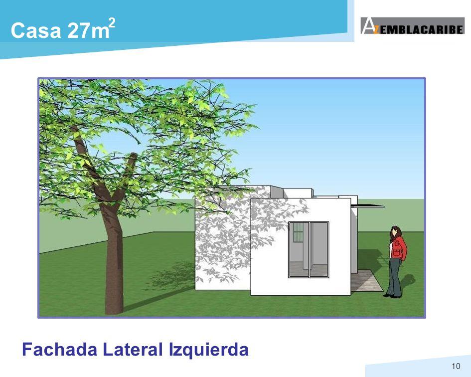 2 Casa 27m Fachada Lateral Izquierda
