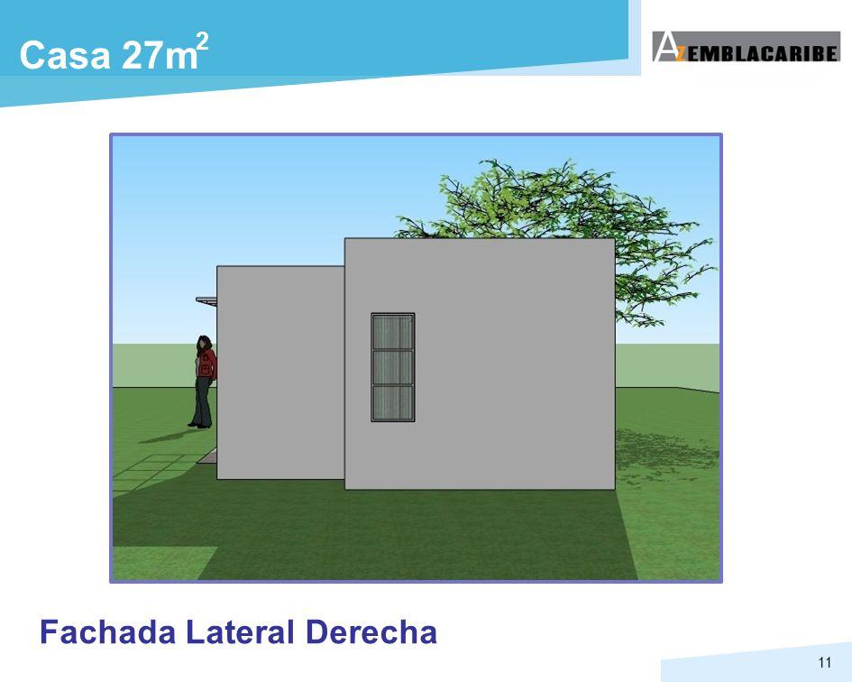 2 Casa 27m Fachada Lateral Derecha