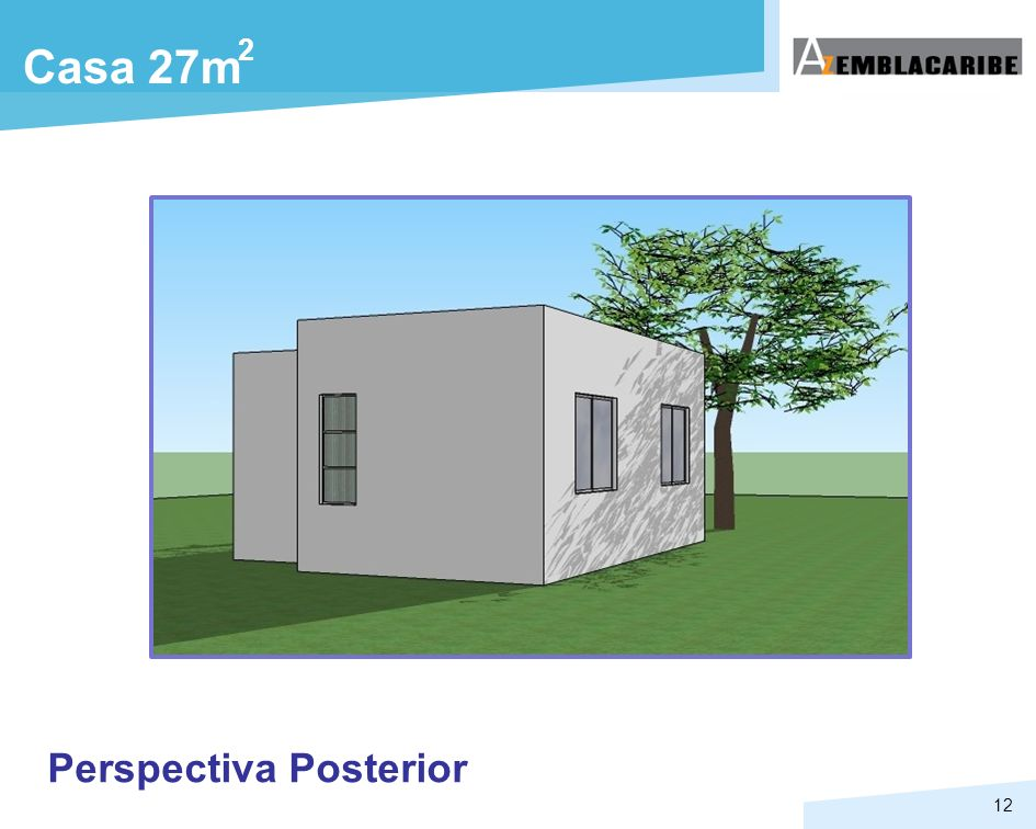 2 Casa 27m Perspectiva Posterior