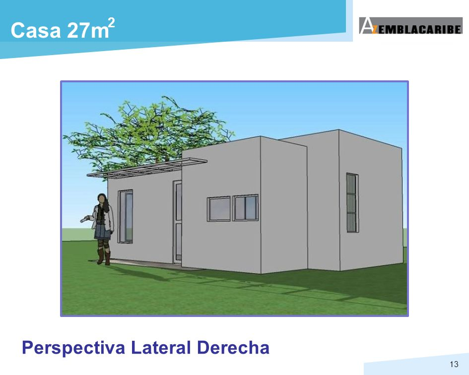 2 Casa 27m Perspectiva Lateral Derecha