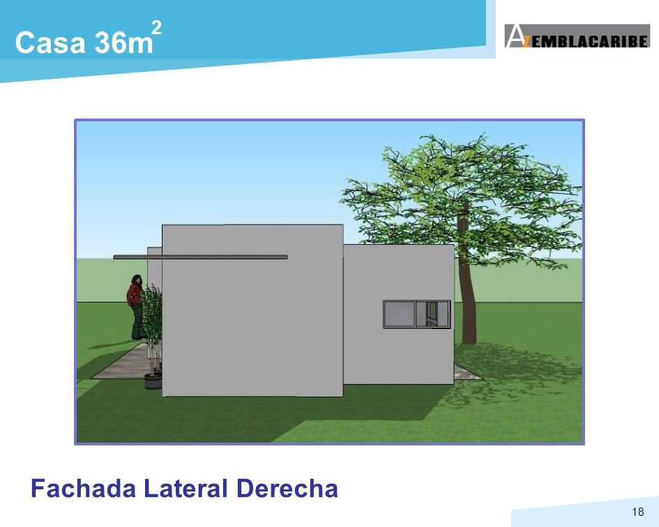 2 Casa 36m Fachada Lateral Derecha