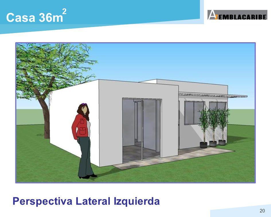 2 Casa 36m Perspectiva Lateral Izquierda