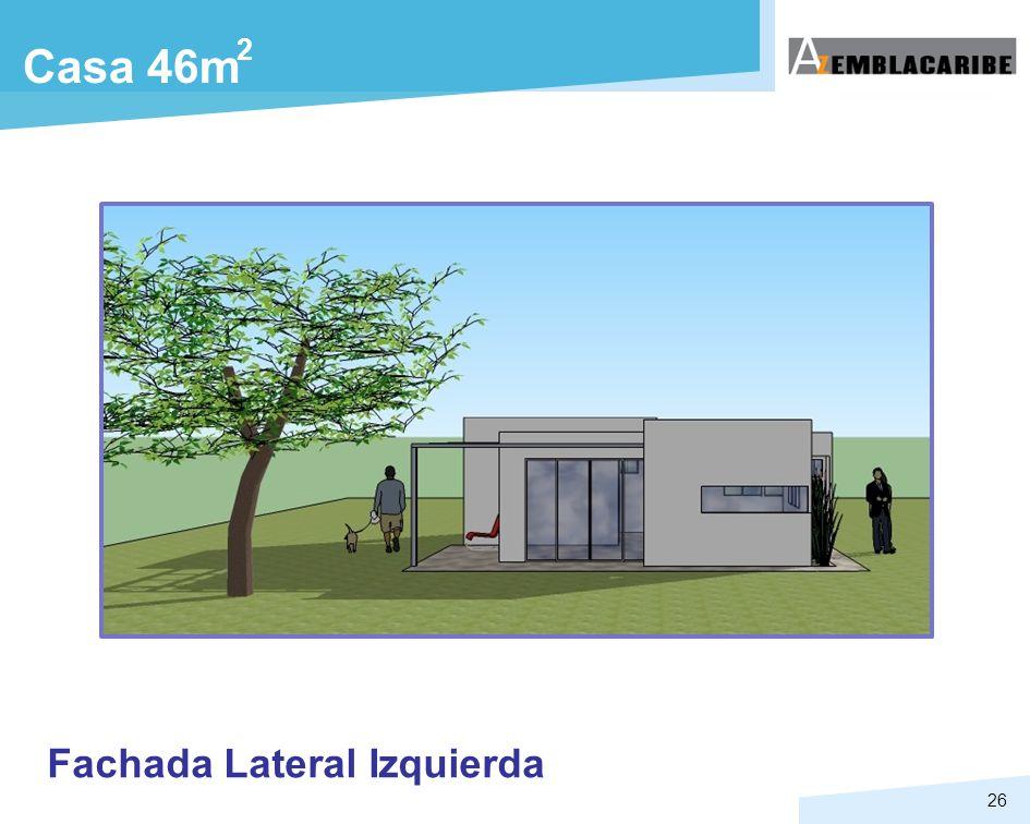 2 Casa 46m Fachada Lateral Izquierda